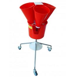 Saignoir rotatif plastique 4 cones